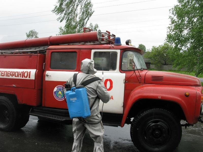 В Брянских пожарно-спасательных подразделениях продолжаются мероприятия по защите  от вирусных инфекций