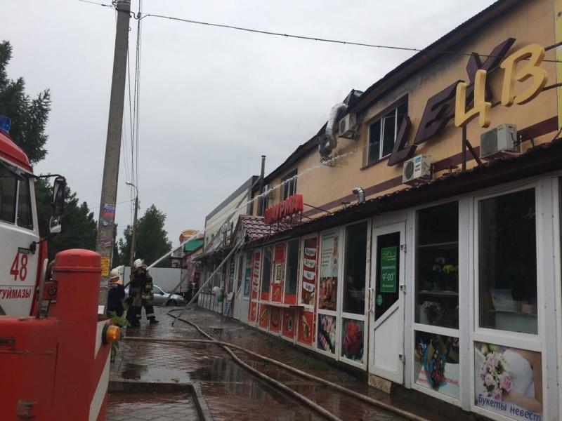 Пожарные подразделения ликвидируют пожар в г.Октябрьский