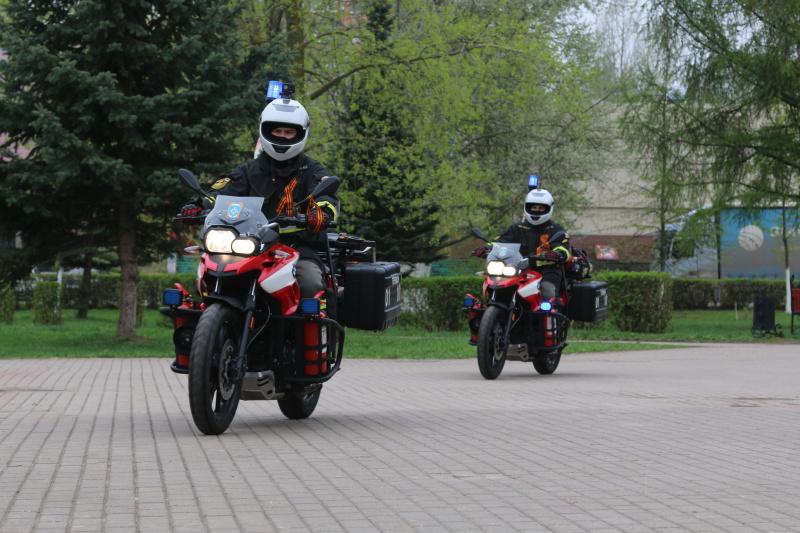 Мотогруппа МЧС патрулирует районы Нижегородской области