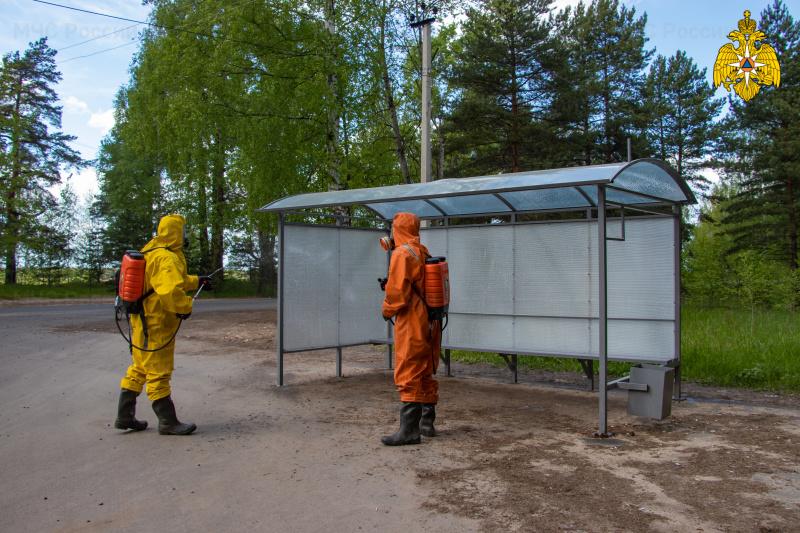 Силами подразделений МЧС России организована санитарная обработка