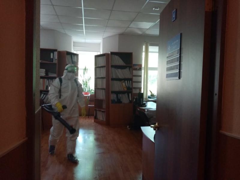 В ОНДиПР Лужского района прошла дезинфекция помещений
