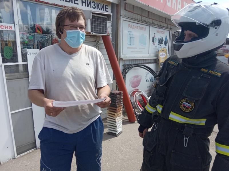 Мотогруппа МЧС продолжает патрулировать районы Нижегородской области