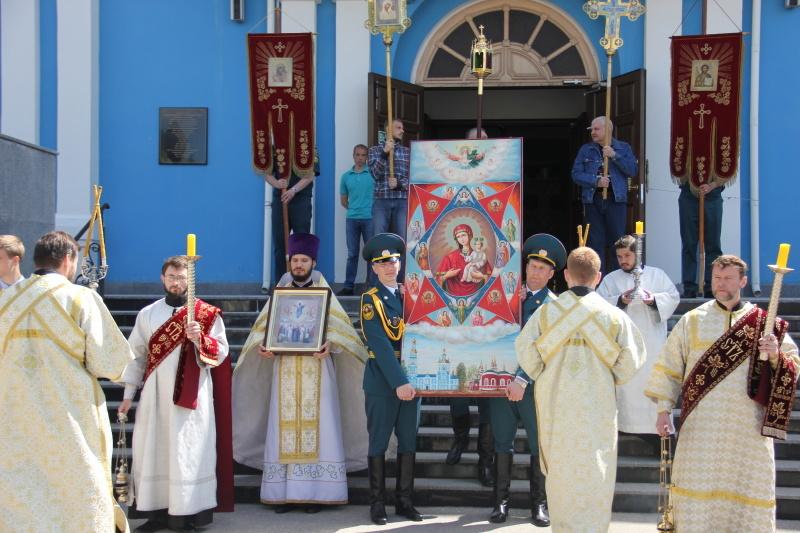 Спасо-Вознесенскому кафедральному собору передана в дар икона Божьей Матери «Неопалимая Купина»