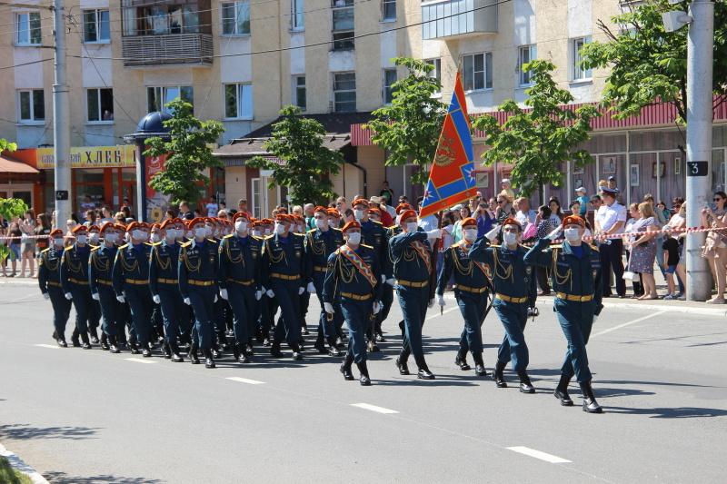 Сотрудники МЧС приняли участие в торжественном мероприятии, посвящённом 75-летию Победы в Великой Отечественной войне