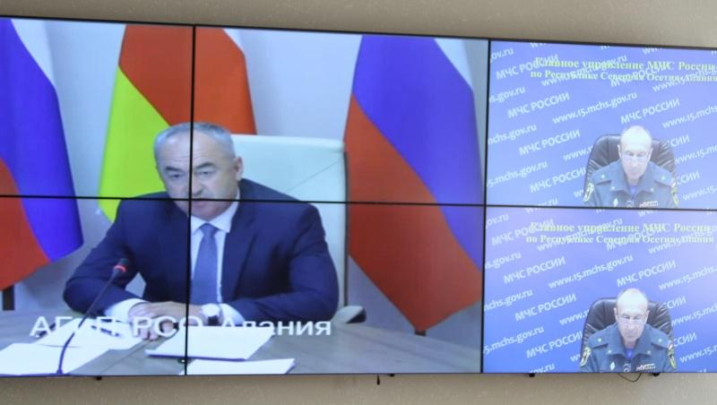 Таймураз Тускаев провел совещание комиссии по предупреждению и ликвидации ЧС
