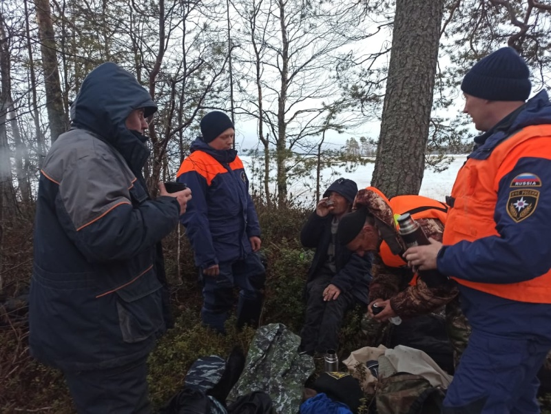 Спасатели вывезли с острова двоих провалившихся под лед петербуржцев