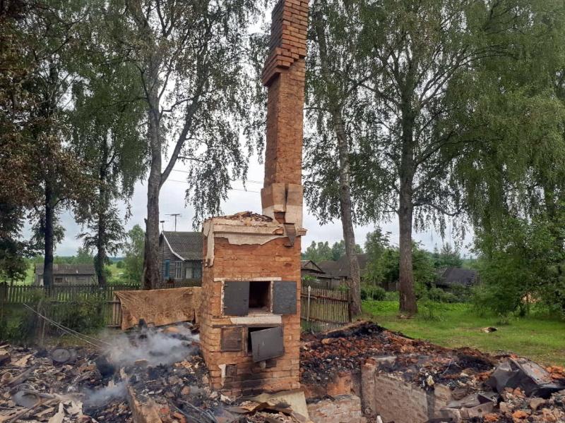 Пожар в Кардымовском районe