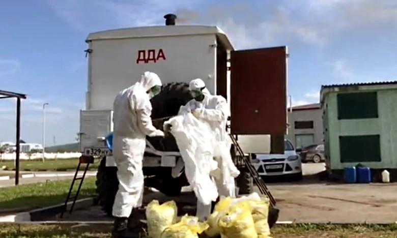Сотрудники МЧС в Чеченской Республике продезинфицировали более 28 тысяч комплектов медицинской одежды и постельного белья