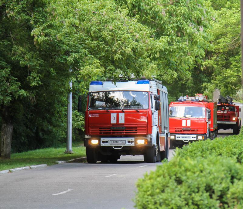 Пожар в городе Баксан