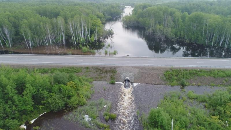 Вода ушла из подтопленных домов в селе Дубовый Мыс Нанайского района