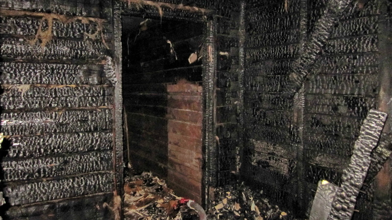 Ночной пожар в Заднепровском районе