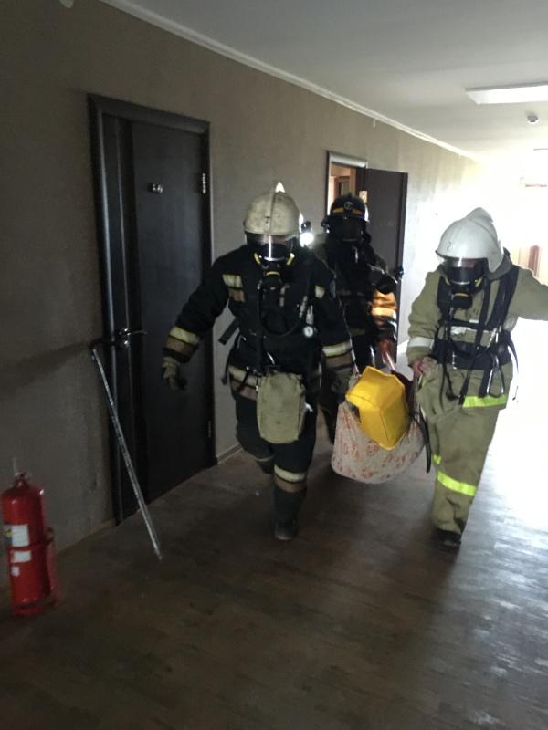В первом пожарно-спасательном отряде прошли тренировочные учения