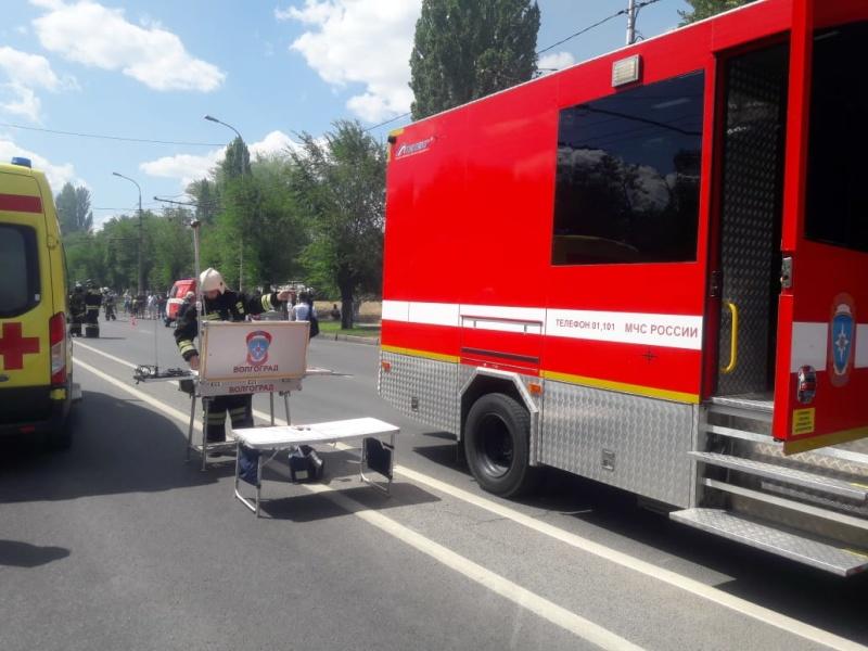 Информация о пожаре в Тракторозаводском районе г.Волгограда