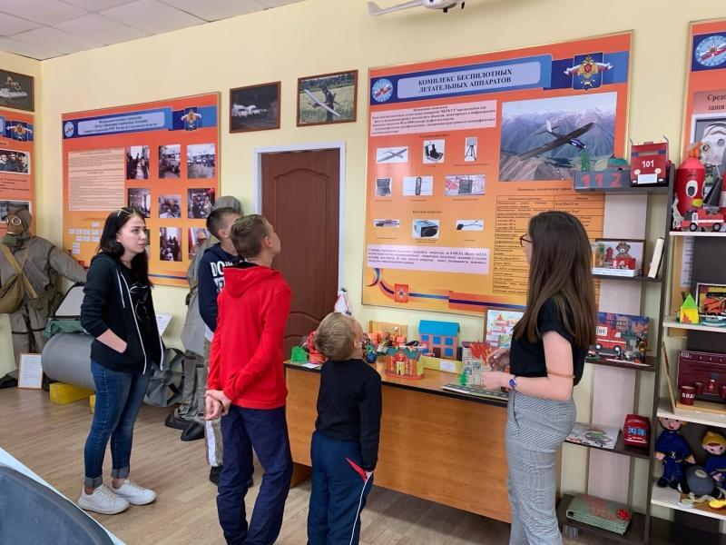 Юные гости с пользой провели время в Центре противопожарной пропаганды