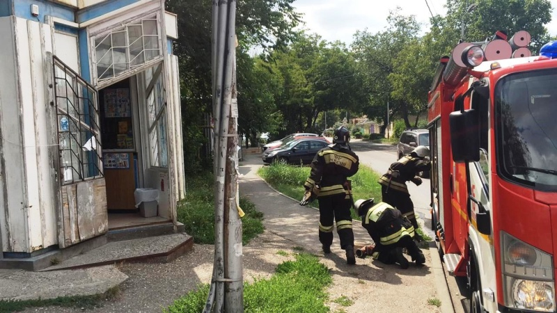 Пожарно-тактические учения на автозаправочной станции города Пятигорска