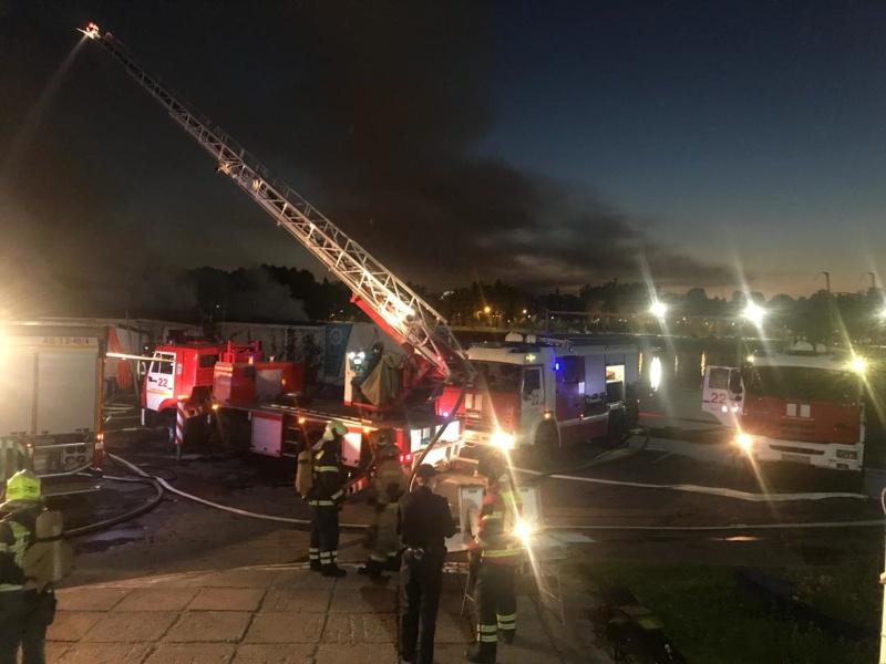 Пожар в Петроградском районе локализован