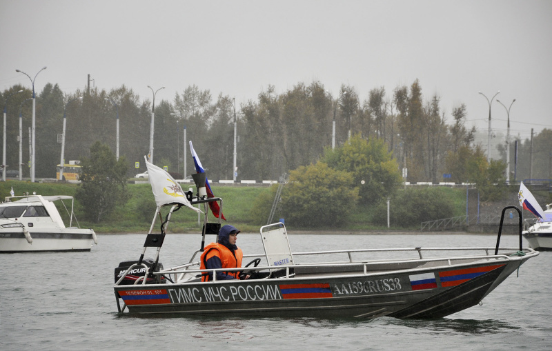 Парад патрульных судов прошел в Иркутской области 23 августа