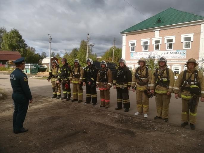 Соревнования пожарных Второго пожарно-спасательного отряда федеральной противопожарной службы Костромской области