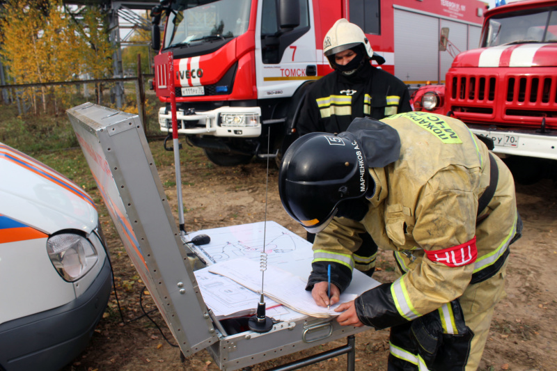 В Томске отработали практические действия по ликвидации аварии на одном из энергетических объектов города