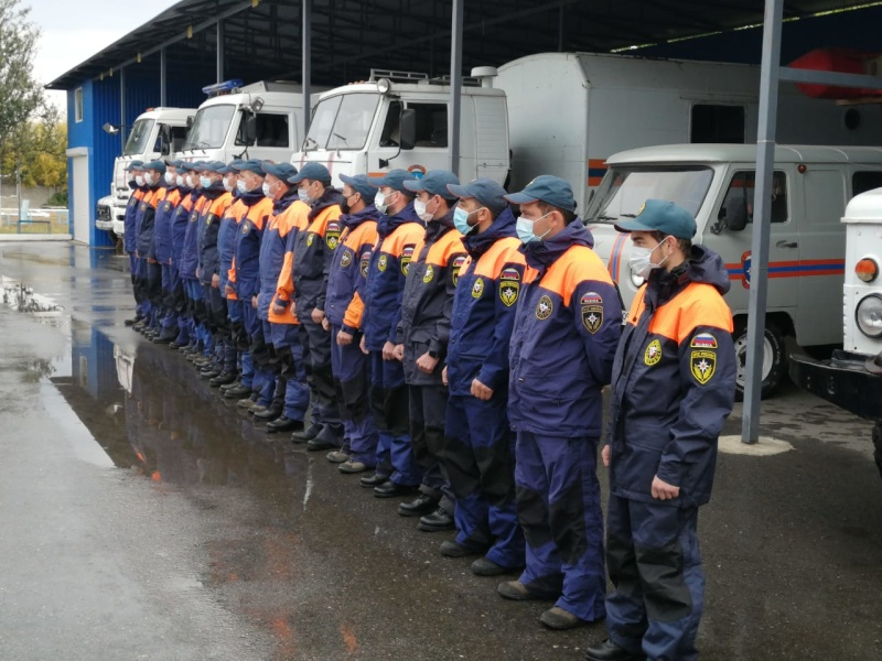 В Карачаево-Черкесском поисково-спасательном отряде МЧС России им. В.М.Дзераева проходит проверка