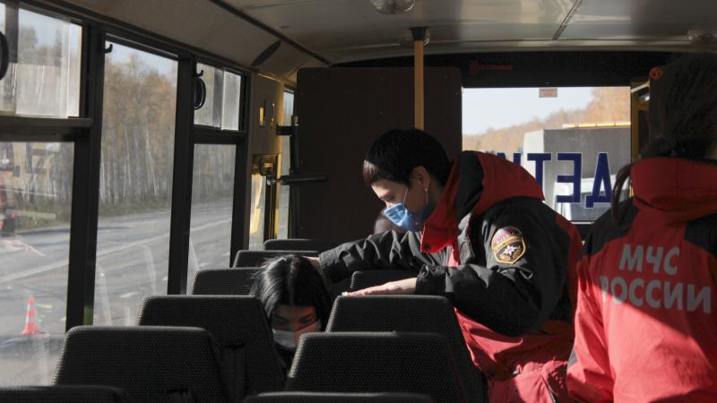 На федеральной автодороге прошли межведомственные учения по ликвидации последствий крупного ДТП (ФОТО, ВИДЕО, СИНХРОН)