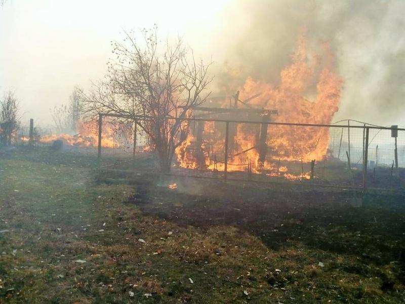 Пoжар в Торбеевском районе