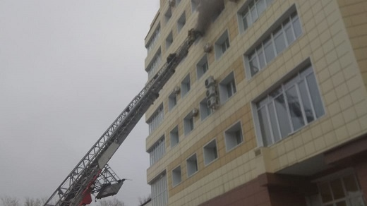 Пожар в Кировском районе г.Томска