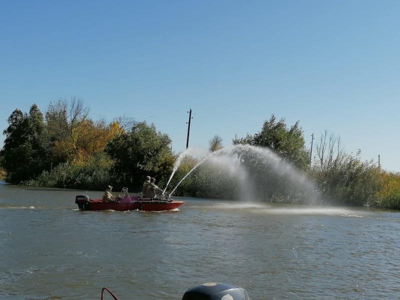 Пожарно-тактическое учение на  территории Астраханского заповедника