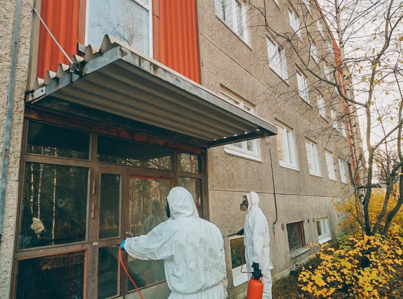 Пожарно-спасательная часть №6 по охране г. Костомукша провела ряд профилактических мероприятий по недопущению распространения коронавирусной инфекции