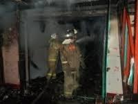 Реагирование подразделений МЧС России по Курганской области на пожар в Щучанском районе