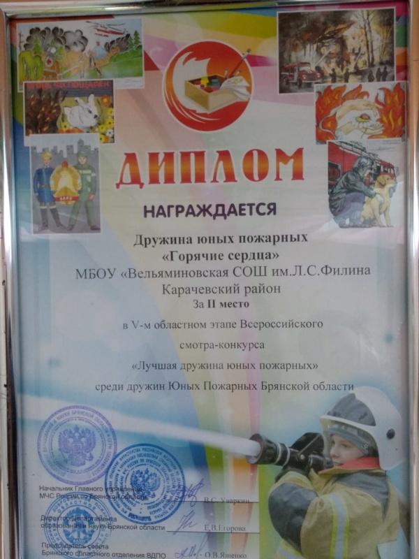 В Брянской области определили лучшую дружину юных пожарных