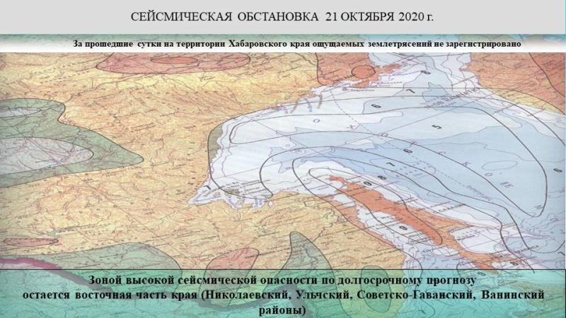 Оперативный ежедневный прогноз чрезвычайных ситуаций на территории Хабаровского края на 22.10.2020 г.
