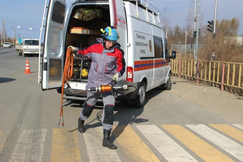 В Хабаровске прошло межведомственное учение по ликвидации ДТП и его последствий (фото, видео, комментарий)