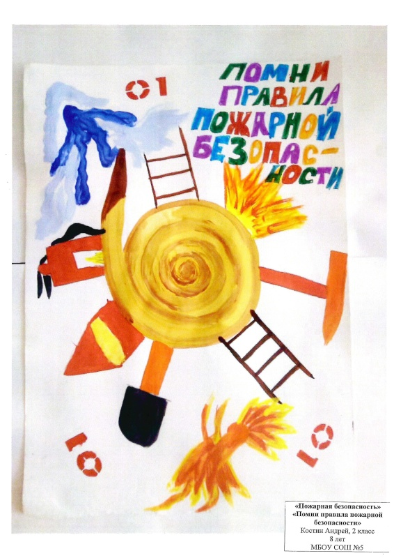 Конкурс рисунков «Осторожно: огонь!»  прошел среди школьников Режа