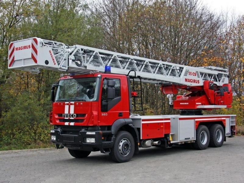 ТЕХНИКА СПАСАТЕЛЕЙ МЧС: Пожарная автолестница АЛ-50 IVECO-MAGIRUS