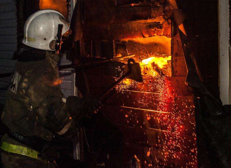 В с. Верх-Тула Новосибирского района горела баня
