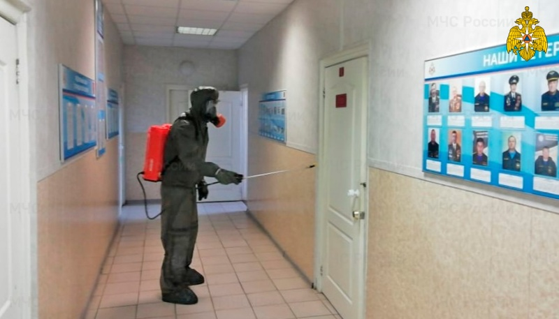 Подразделения пожарной охраны проводят санитарную обработку