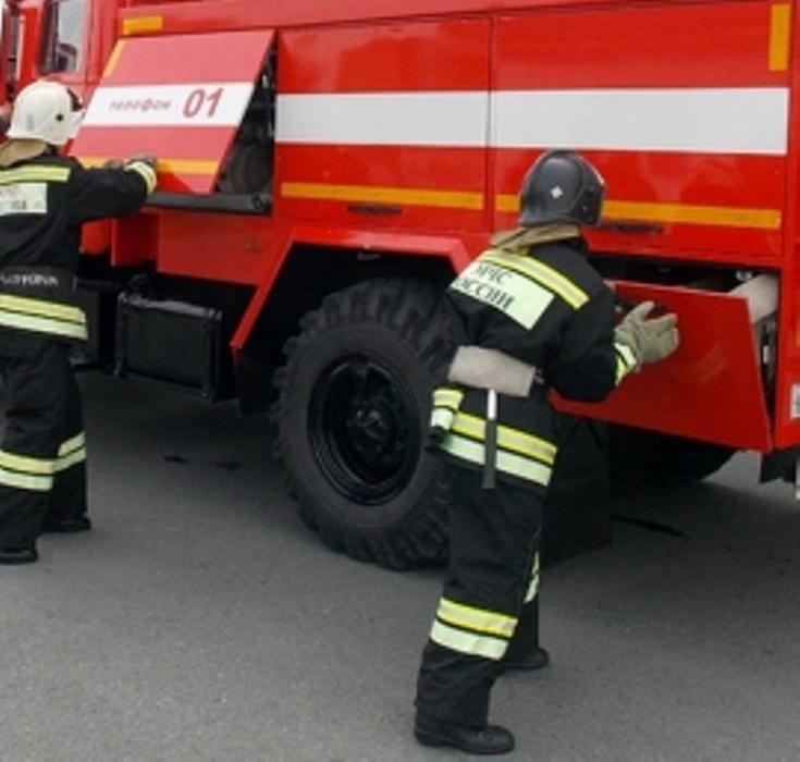 Пожар в Александровском районе
