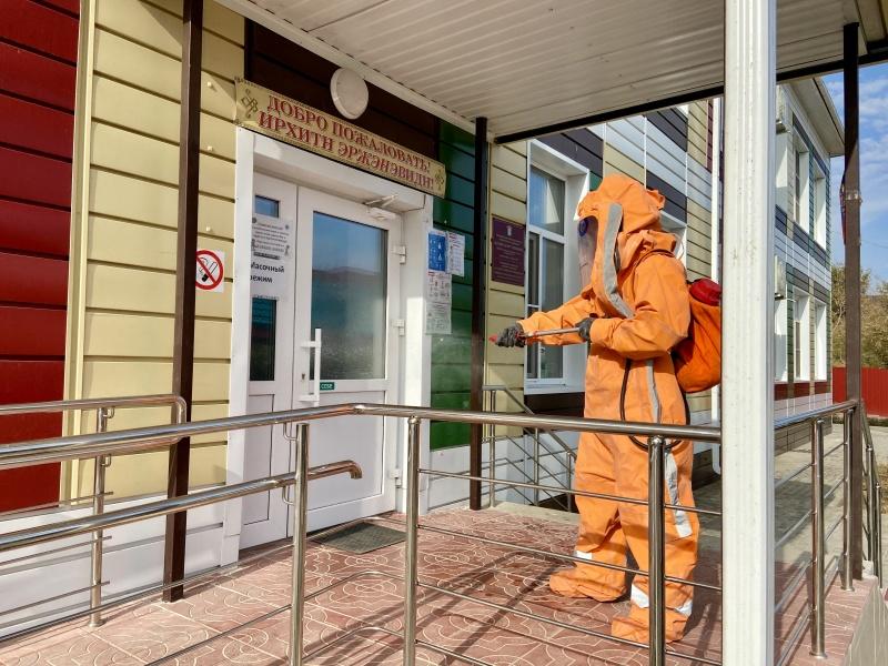 В Калмыкии продолжаются дезинфекционные мероприятия