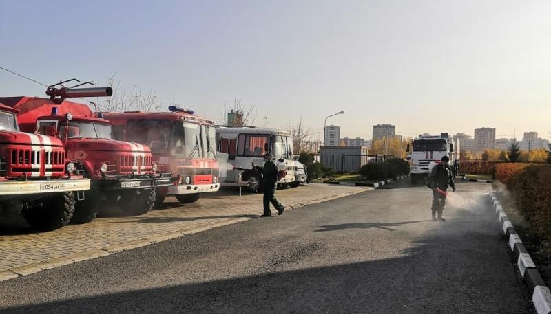 В подразделениях чрезвычайного ведомства Липецкой области проводится дезинфекция