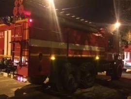 Ликвидация пожара в Погарском районе