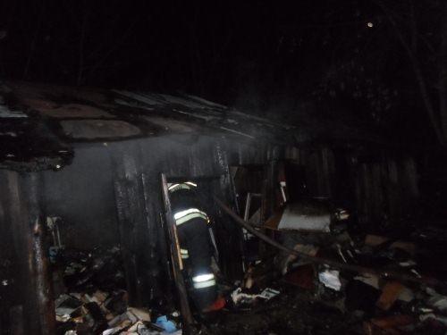 Пожарно-спасательные подразделения приняли участие в ликвидации пожара в Тоншаевском М.О