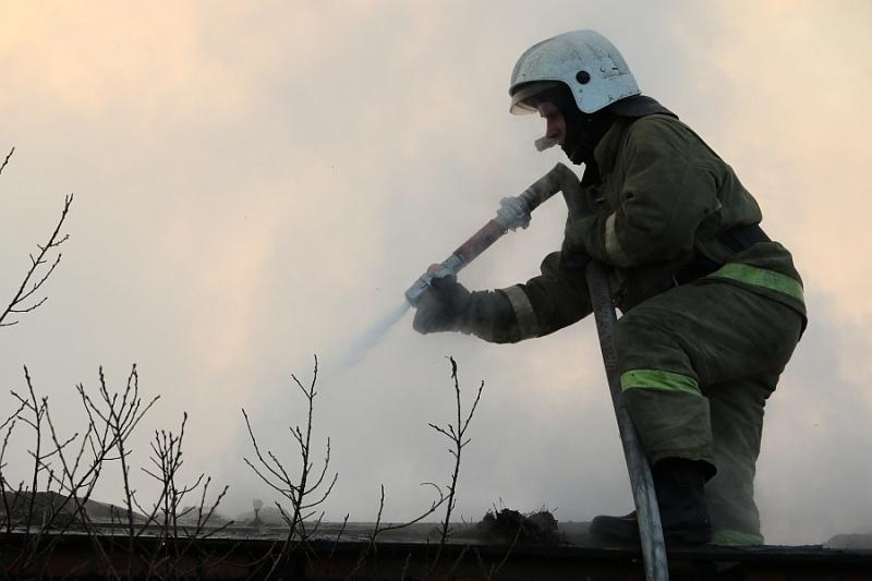 Сильный ветер осложнил тушение пожара в Усть-Абаканском районе