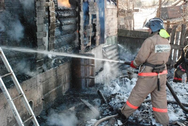 Пожар в Ленинском районе г. Томска