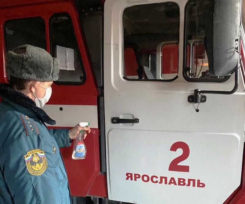 Дезинфекция подразделений регионального МЧС России