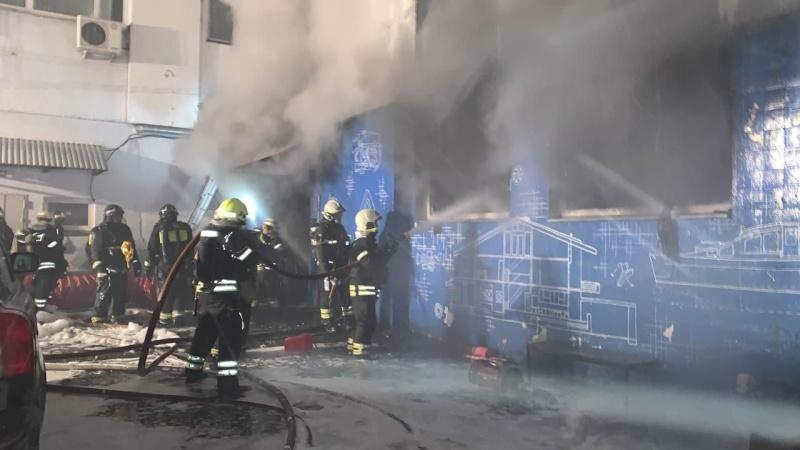 Ликвидирован пожар в пром.зоне по адресу Варшавское ш., д.26, соор. 12