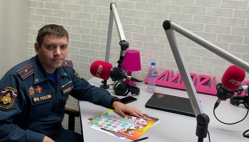 """О пожарной безопасности в зимнее время в программе """"Классный Час"""" на Липецк-FM"""
