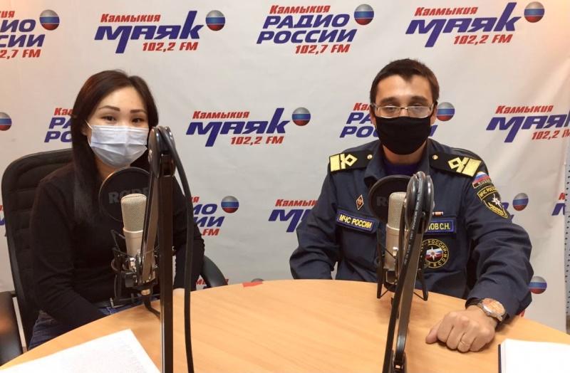 В эфире Радио Калмыкии о безопасности на воде в зимний период