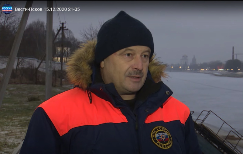 Новости Псков 15.12.2020/ Псковским рыбакам напомнили о запрете выхода на водоёмы