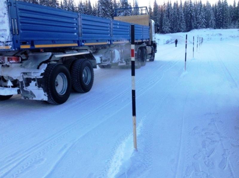 Три технологические ледовые переправы открыты для движения по льду в Иркутской области